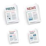 set of newspapers