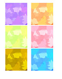 Six colorful abstract backgrounds