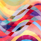 abstract waves colorful background