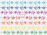Colorful graphs on the cardiogram tape