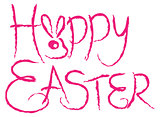 Happy Easter Brush Strokes Grunge Text