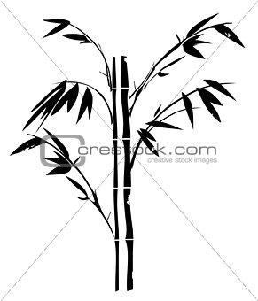 Grunge Bamboo Silhouette