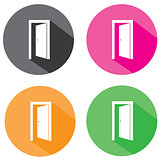 Vector Flat Door Icons