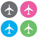 Vector Plane Flat Icon