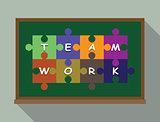 team work concept puzzle