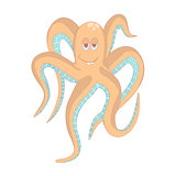 Very Funny octopus.Isolated