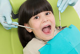 Little girl at dentist's office