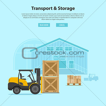 Forklift and Warehouse