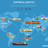Shipping and Logistics Concept