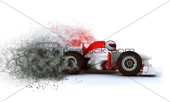 3D Racing card with speed effect