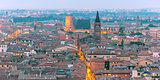 Panorama of Verona skyline at night, Italy