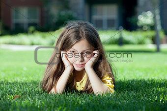 on grass
