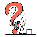 Business question businessman thinking