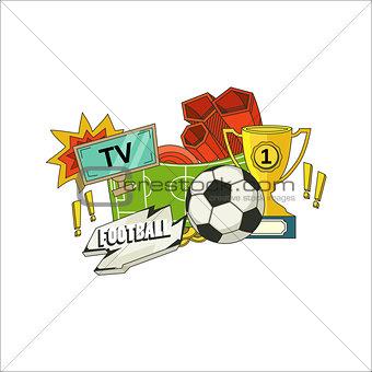Football flyer illustration