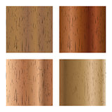 Set of wooden textures, vector illustration