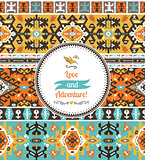 Seamless bright pattern in tribal style