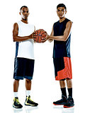 basketball players men Isolated