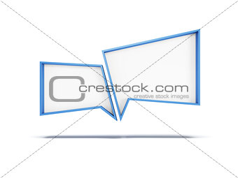 3d speech bubbles, isolated 3d rendering