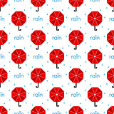 seamless pattern red umbrella. flat. vector