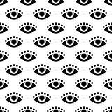 seamless pattern with eye. vector. flat.