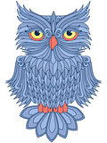 Amusing blue owl