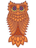 Amusing orange owl