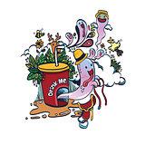 Doodle Funny Spirit of Drink