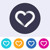 Single vector heart icon