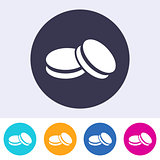 Single vector macarons icon
