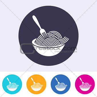 Single vector spaghetti icon