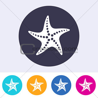 Single vector starfish icon