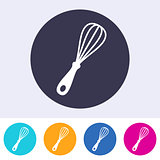 Single vector whisk icon