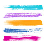 Colorful brush strokes silhouettes