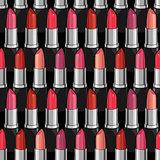 Seamless pattern with beauty lipsticks.