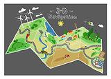 navigation doodle map