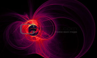 Abstract figure from round,  waves and plasma. Fractal art graphics
