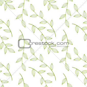 green leaves seamless