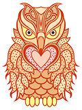 Amusing orange beaky owl