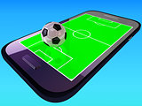 Mobile soccer game