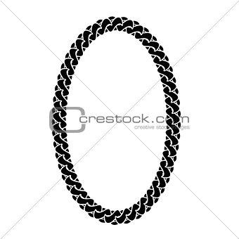 Black Chain Oval Frame