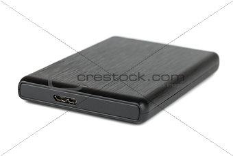 Black portable hard disk