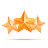 Three 3d gold stars premium. The best reward