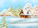 Winter Landscape, Rustic House