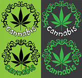 Marijuna Cannabis design stamp vector illustration