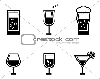 six glasses icons