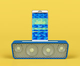 Portable speaker and smartphone