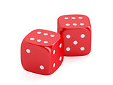 Red winning dices