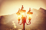 Beautiful vintage street lamp