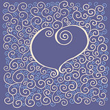card with heart and curl pattern