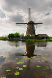 dutch windmill over water